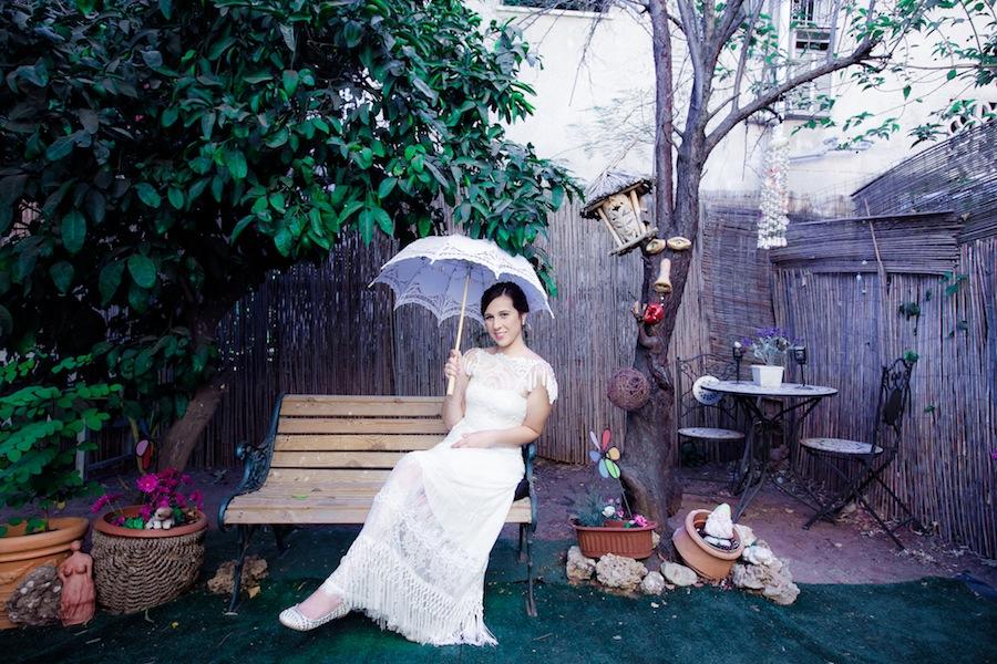 הגינה בסטודיו בית של כלות